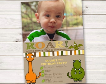 Dinosaur Party Pack: Personalized Invitation