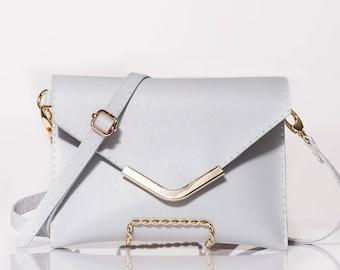 Gray Clutch Purse/Waist Bag/Fanny Pack