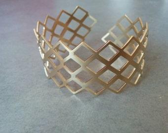 Gold Cuff Bracelet, Geometric Bracelet, Gold Cuff, Gold Bracelet, Triangle Braclete, Gold Bangle, Wedding Jewellery, Bridal Jewelry