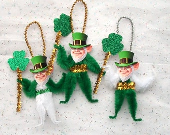Chenille Ornaments St. Patrick's Day, Handmade St. Patrick's Day Decorations (88)