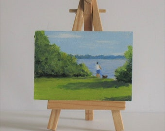 Original Aceo, pet painting, landscape
