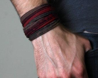 Boyfriend Gift, Mens Bracelet, Gift for Men, Burning Man, Husband Gift, Wrap Bracelet, Mens Gift, Festival Clothing, Gift for Boyfriend