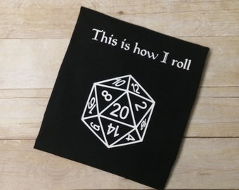This is How I Roll Shirt - 20 Sided Dice Shirt - Gamer Shirt - Funny Shirt - Gamers Funny Shirt - Magic Shirt - Dungeons Shirt