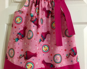 Girls Trolls Poppy Cupcake Pillowcase Dress