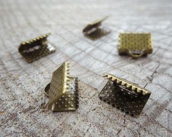 Ribbon Crimp Ends Attachment ~5 pieces #100917