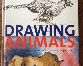 Drawing Animals An Introduction by Kay Galway hardcover book 1994 learn to draw animals step-by-step demonstrations