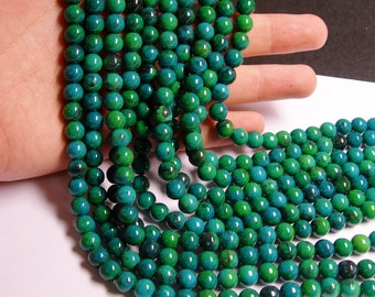 Chrysocolla 8mm round beads 1 full strand  48 beads - reconstituted - RFG799