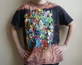 Bleached DC Comics Superheroes Tee