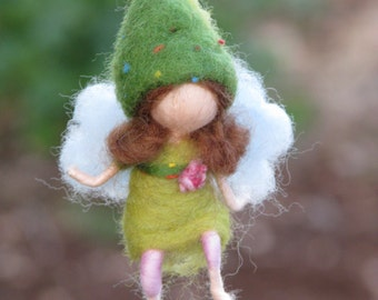 Waldorf inspired needle felted little fairy