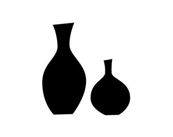 EZ Mounted Rubber Stamp Retro Vase Altered Art Craft Scrapbooking Cardmaking Collage Supply