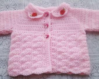 PDF Baby shell jacket crochet pattern