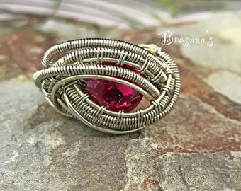 Lab Created Ruby Ring Size 8.5