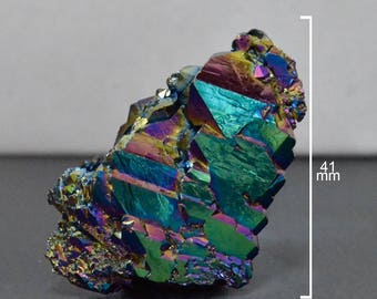Rainbow Titanium Quartz Crystal, 41 x 24 mm for DIY Jewelry Making & Wire Wrapping, Crystal Shard - SS0649