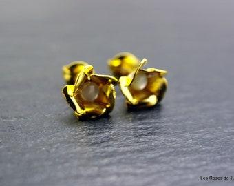 Earrings gold Flower Earrings gold