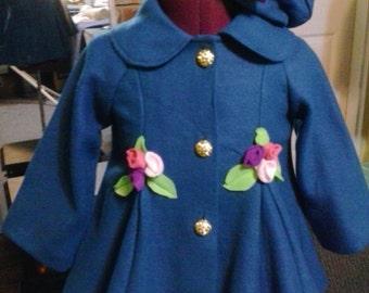 Girls fleece coat