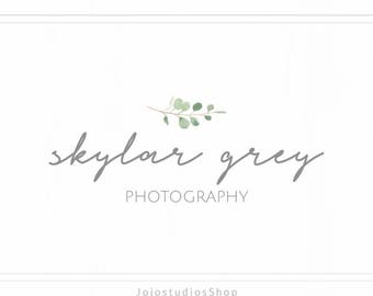 Photography Logo and Watermark, Calligraphy Logo, Premade Logo, Simple Logo Design, Floral Logo, Handwritten Logo, Script Logo, L132