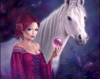 Unicorn Fantasy Art Print The Mystic