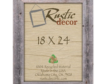 "18x24 Rustic Barn Wood 3.5"" Extra Wide Wall Frame"