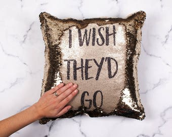 I Wish They'd Go - Secret Message Reveal, Mermaid Cushion