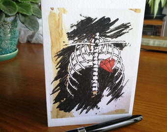 Ribcage Greeting Card