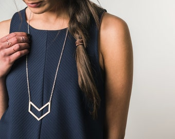 Open Chevron Necklace