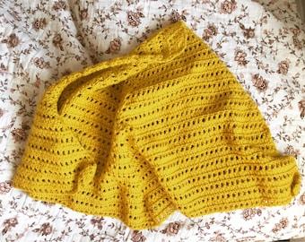 Goldenrod shawlette