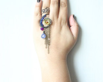 Mayura Shikha /// a cocktail Ring by Jhumki Luxe - designs by raindrops