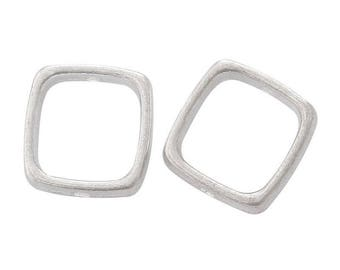 7 beads 14 mm square setting