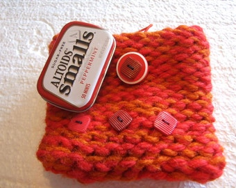Gothic Mini   Knit Bag  Red and Orange