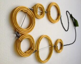 Gold Spirals Necklace