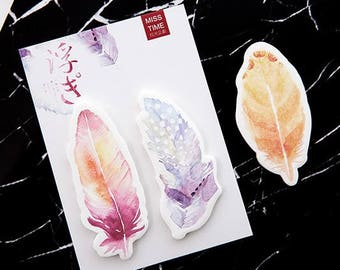 Feather Sticky Notes • Planner Supplies