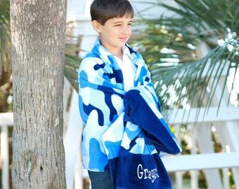 Cool Camo Beach Towel, Personalized Beach Towel, Monogram Towel