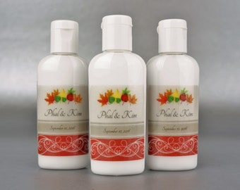 Personalized. Fall Wedding. Lotion and/or Sanitizer and/or Lip Balm