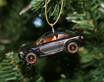 Christmas ornament, Matchbox BMW 1M, Christmas gift, car ornament, BMW ornament, holiday decor, matchbox ornament, die cast ornament