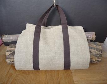 Bag for logs of ultra lightweight linen