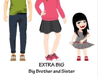 EXTRA BIG Big Brother and Sister - Signed Children's Book - Picture Book - Kid's book