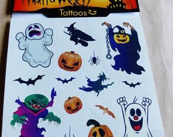HALLOWEEN 15 tattoo temporary pumpkin ghost bat witch mouse Jack O Lantern Temporary tattoos
