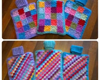 Crochet 2L Hot Water Bottle Cover