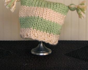 Square Baby Hat, Tassel hat, Photo prop, Baby shower gift, Baby hat, Toddler Hat