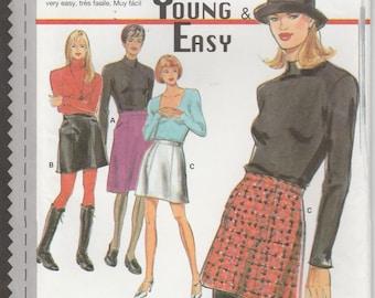 Easy Skirt Pattern Short Misses Size 6 - 8 - 10 - 12 - 14 - 16 - 18 Uncut Young & Easy Burda 3629
