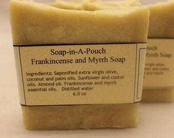 Frankincense and Myrrh Soap//Handmade Frankincense and Myrrh Soap/All Natural Soap/Handcrafted Soap/Natural Soap