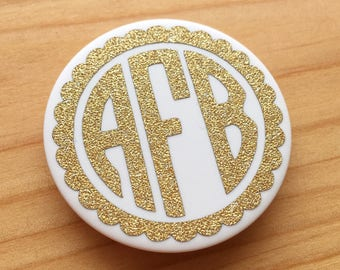 FANCY MONOGRAM | Gold Glitter PopSocket Decal | Monogram PopSocket Decal | By AngelaBrooksShop on Etsy