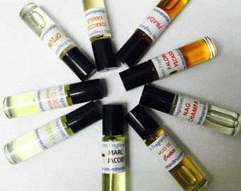 Scented Body Oils, G - O.  Available in 3 sizes.