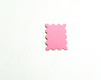 Paper Embellishment Postage Stamp Die cut hand punched cardstock accents for your DIY craft projects pick your amount and color made by kids