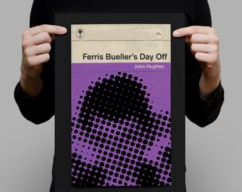 FERRIS BUELLER'S Day Off Movie Poster Ferris Bueller Movie Poster Ferris Bueller's Day Off Poster Penguin Classics Print Ribba