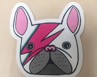 Bowie bulldog sticker