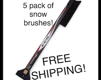 5 Pack Hockey Stick Car Snow Brush- FREE SHIPPING