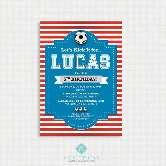 World Cup Invitation- Soccer Birthday Invitation, Soccer Birthday Party Invitations, Soccer, DIY,  Printable Template, Digital