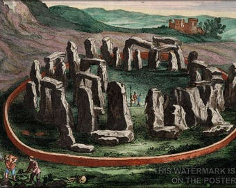 Poster, Many Sizes Available; Stonehenge C1649 Atlas Van Loon