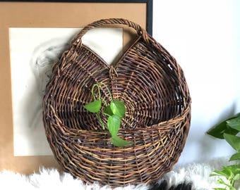 Vintage Wall Basket Planter
